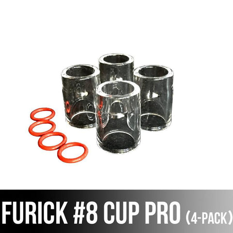 Furick #8 Pro Cup 4-Pack <br>( works with #9/20 Torches without adapter and with #17 / 26 style torches with adapter kit)