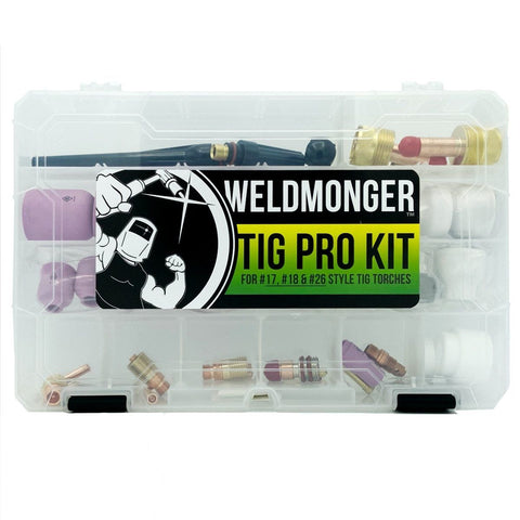 Weldmonger™ TIG PRO Kit for 17/18/26 Style Torches (Furick Cup/CK Worldwide Genuine Parts)