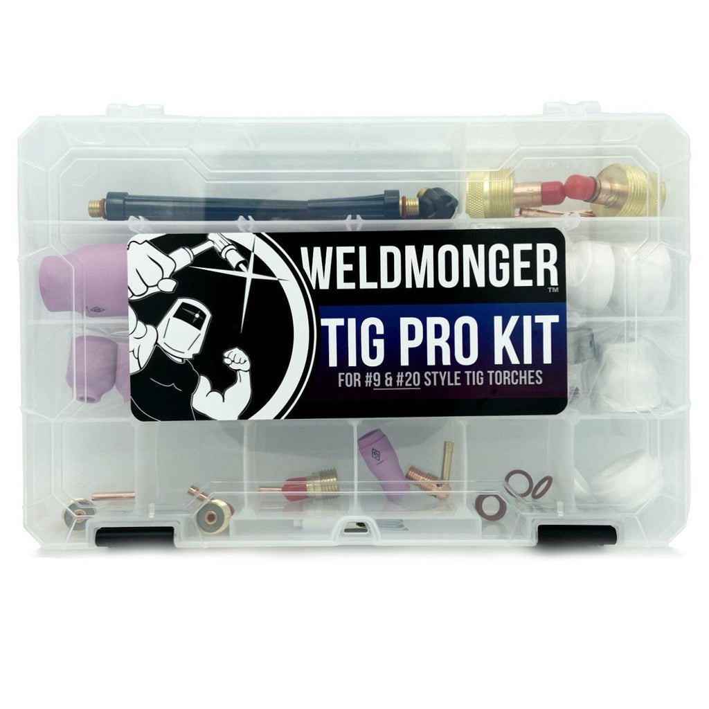 Weldmonger™ TIG PRO Kit for #9 and #20 Style Torches (Furick Cup/CK Worldwide Genuine Parts)
