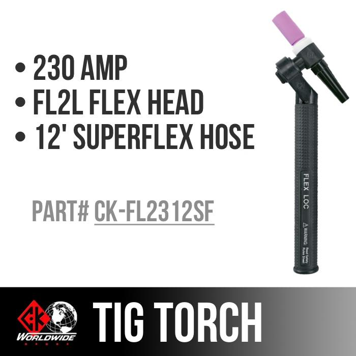 * CK Worldwide TIG Torch - CK-FL2312SF
