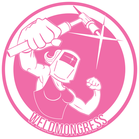 """Weldmongress"" Pink Stickers (2-Pack) 100% Donated to ""Women Who Weld"" - a non profit organization"