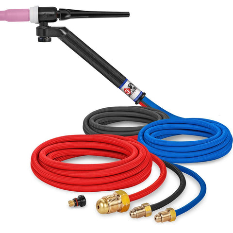 CK Worldwide | TIG Torch FL250 - Water Cooled 3 Series (CK-FL252512) w/ 12.5' Super Flex Cable