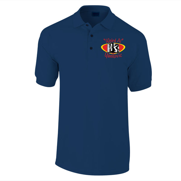 Accordion Logo Navy Polo