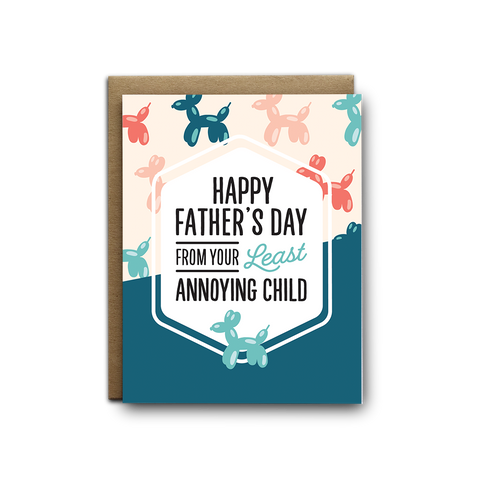 Father's Day Annoying Child Greeting Card