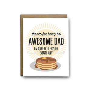 Awesome Dad Greeting Card