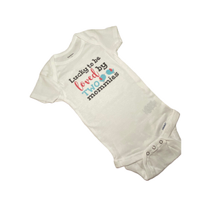 Loved By Two Mommies Onesie