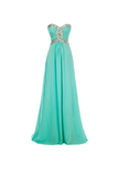 Anneprom A-Line Long Chiffon Prom Dress Evening Gown Crystal Beaded APB0014