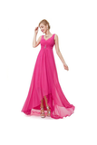Anneprom A-Line High Quality Chiffon V-Back Prom Dresses Evening Dresses APB0015