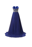 Anneprom A Line Prom Dresses Chiffon Sweetheart Evening Dresses APB0026