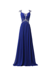 Anneprom Chiffon V-Neck Long Prom Gowns Party Dresses Bridesmaid Dresses APB0028