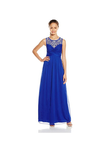 Anneprom A-Line Royal Blue Beading Long Prom Dress Evening Dress APB0030