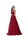 Anneprom A-Line Chiffon Lace Evening Gowns Prom Dresses Bridesmaid Dresses APB0034