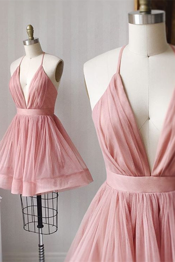 Anneprom Cute Little Blush Pink Skater Dress, Short Prom Dresses, Short Evening Dress APP0361