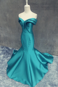 Anneprom Mermaid Off Shoulder Backless Prom/Evening Dress With Ruffles APP0114