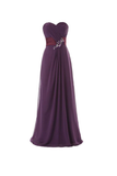 Anneprom A-Line Sweetheart Floor-Length Bridesmaid/Prom Dress With Ruffles APB0055