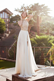 Anneprom Sleeveless High Neck Backless Chiffon Prom Dresses Evening Dresses APP0163