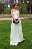 Anneprom Sweetheart Floor Length Prom Chiffon Dresses With Rushed APP0032