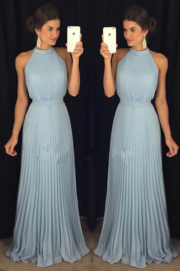 Anneprom Halter Gorgeous High Neck Long Floor-Length Prom Dresses APP0217