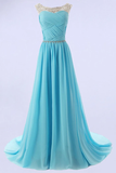 Anneprom Elegant A-Line Scoop Bridesmaid/Prom Dresses With Beading APB0007