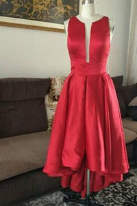 Anneprom A-line Asymmetrical Prom Drsess Red Homecoming Dresses APH0079