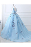 Anneprom Formal Ballgown Tulle Prom Dress With Butterflies Wedding Dresses APP0320