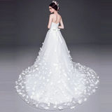Anneprom Chic Cheap Wedding Dresses Vintage A-line Sweetheart White Wedding Dress With Lace APW0250