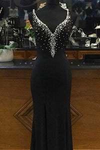 Anneprom Beading Charming Prom Dresses,The Elegant V-Neck Floor-Length Evening Dresses, Prom Dresses, Real Made Prom Dresses APP0405