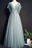 Anneprom Beautiful Tulle Long Party Gown, Tulle Formal Dress APP0349