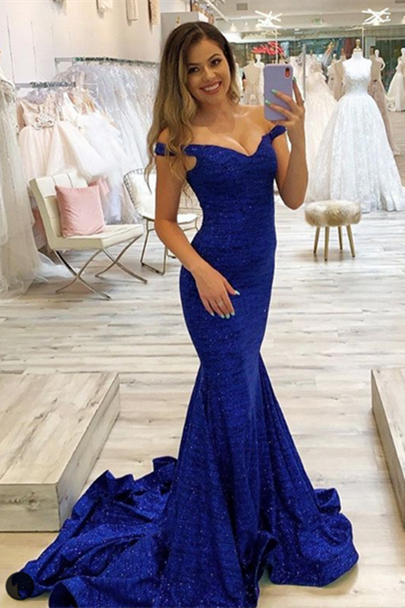 Anneprom Elegant Beautiful Royal Blue Party Dresses, Long Prom Dresses APP0389