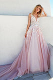 Anneprom Romantic Tulle & Taffeta Scoop Neckline A-Line Wedding Dresses APW0157