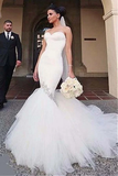 Anneprom Sweetheart Neckline Memaid Wedding Dresses With Beading APW0188