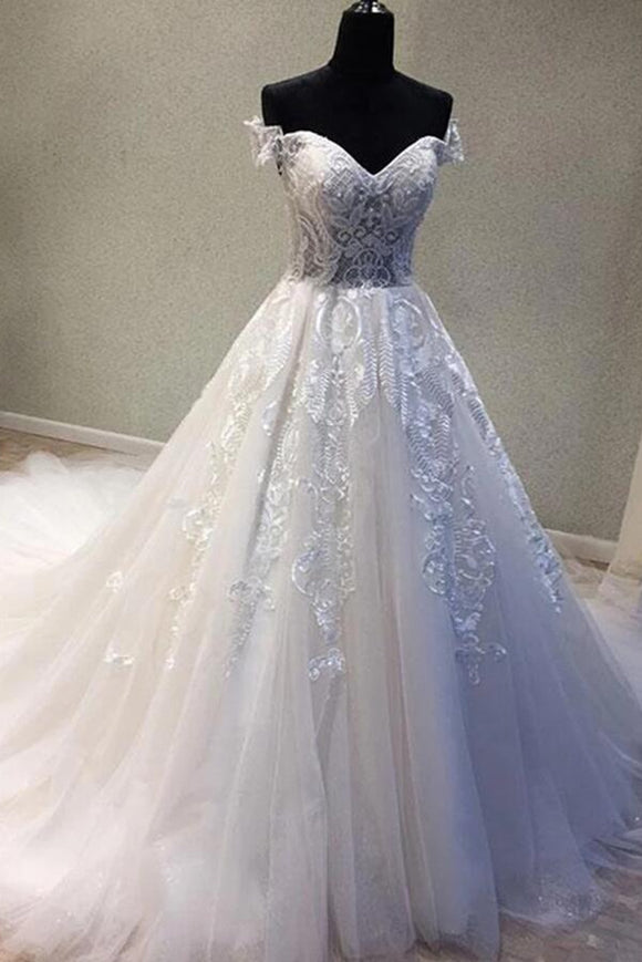 Fahion Sweetheart Tulle Lace China Wedding Dresses Off Shoulder Women Wedding Dresses,Newly Cheap Wedding Bridal gowns APW0245