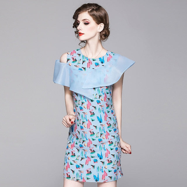 Whimsical Modern Patterned Dress - Source Silk