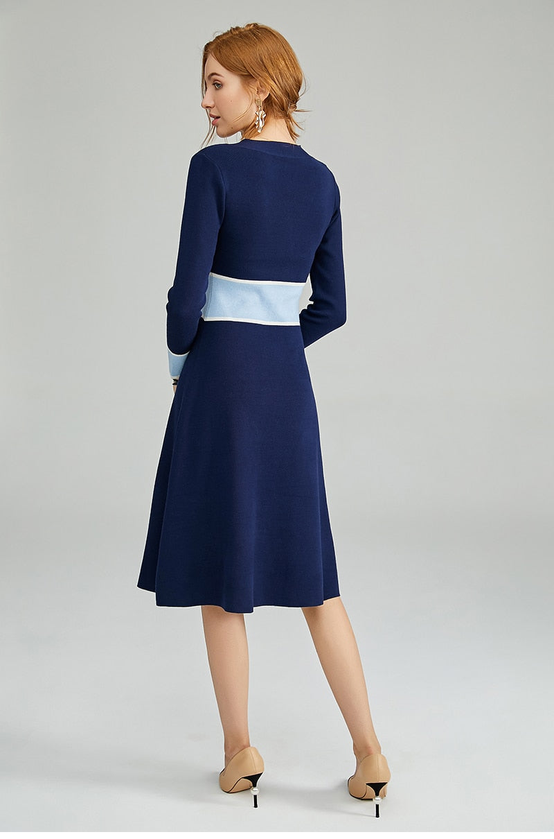 Long Sleeved Sailor Dress - Source Silk