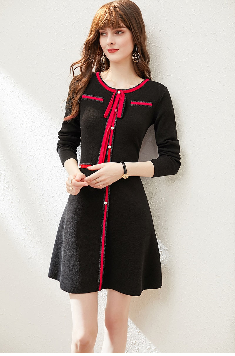 Babydoll Wool Sweater Dress - Source Silk