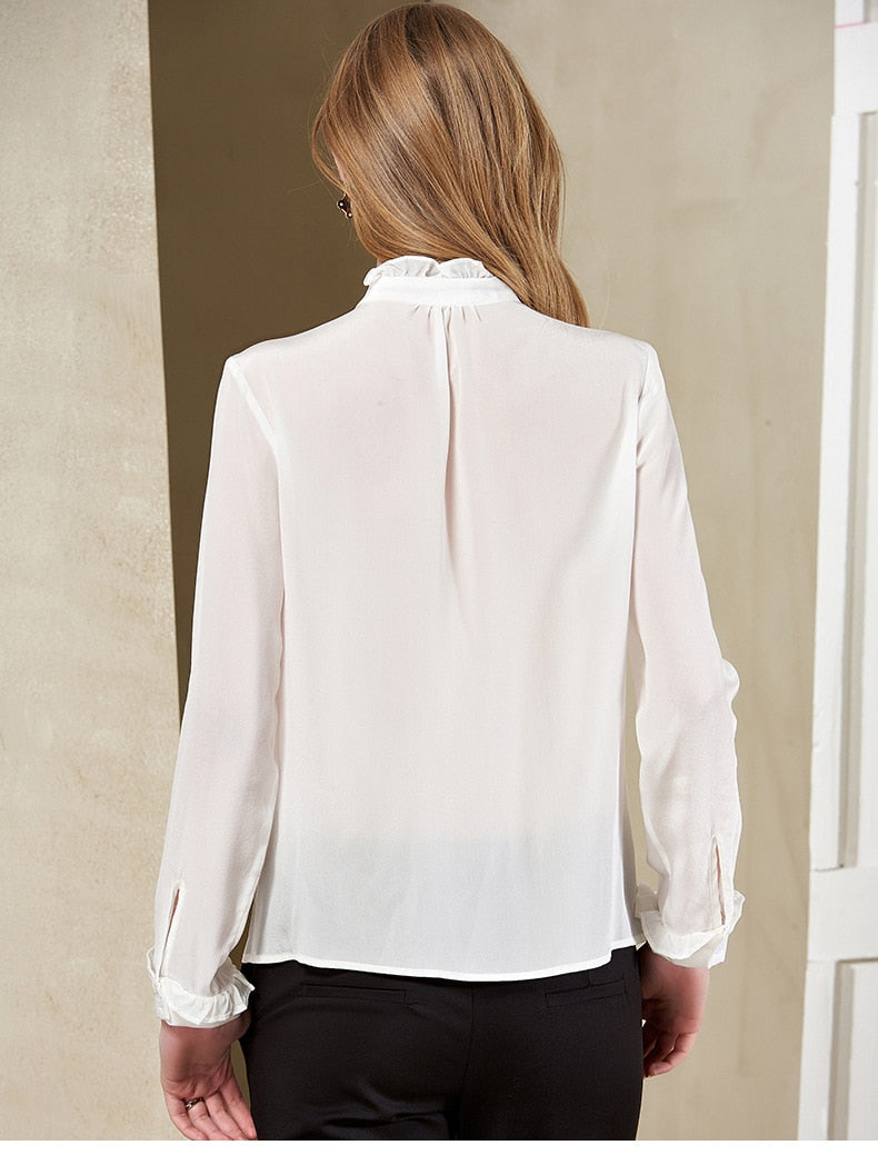Ruffled Mock Neck Blouse