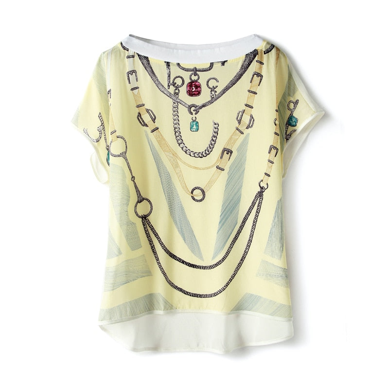 Necklace an Strap Graphic Tee - Source Silk