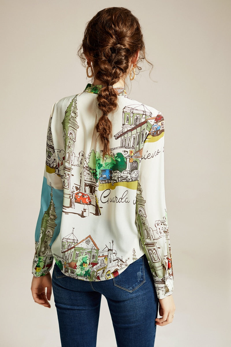 European Printed Blouse - Source Silk