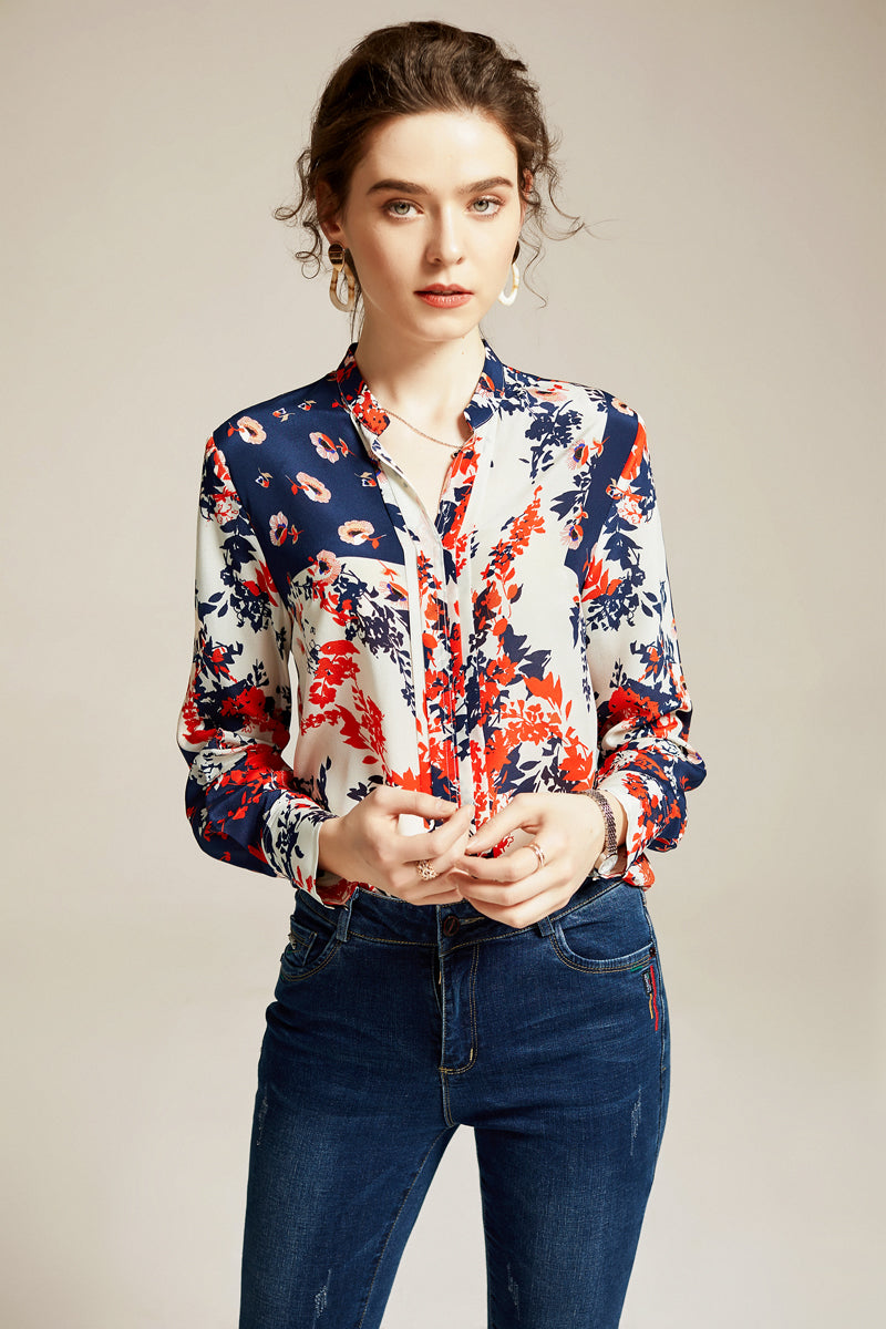 Colorful Silk Blouse - Source Silk
