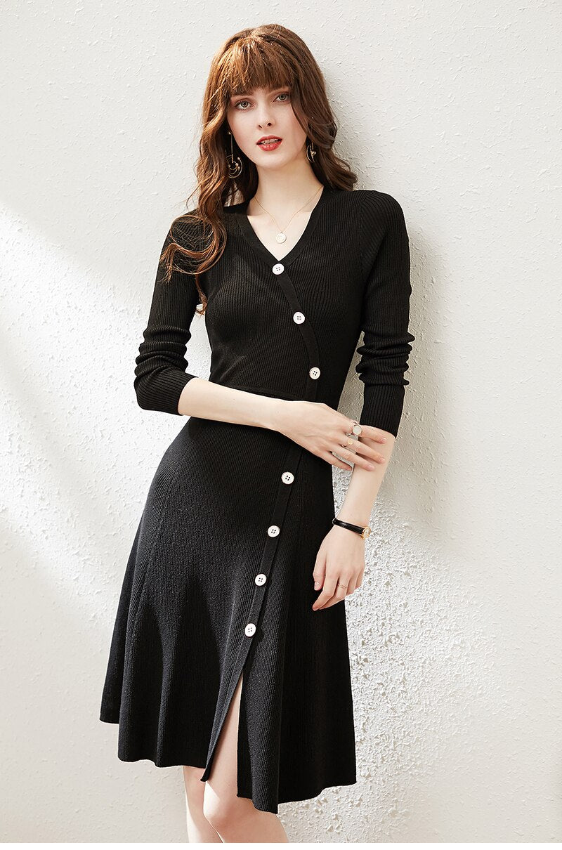 Asymmetrical Button Up Dress - Source Silk