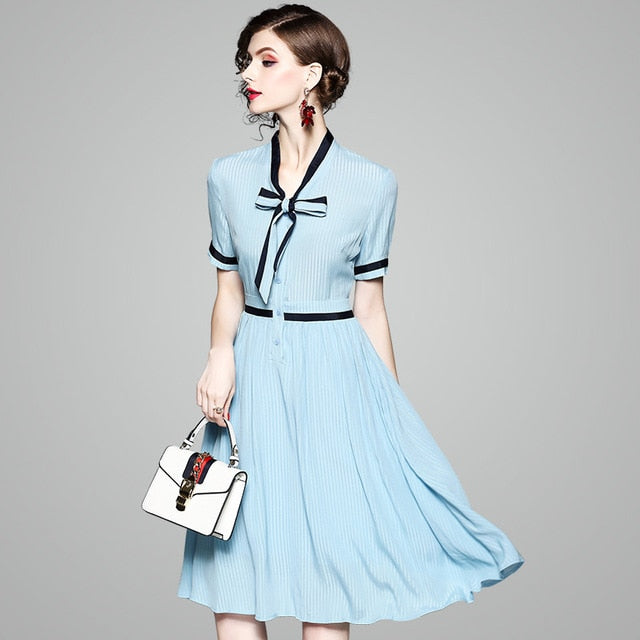 Blue and Black Vintage Sailor Dress - Source Silk