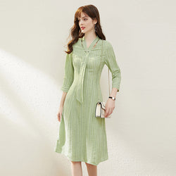 Pastel Pin Striped Dress - Source Silk