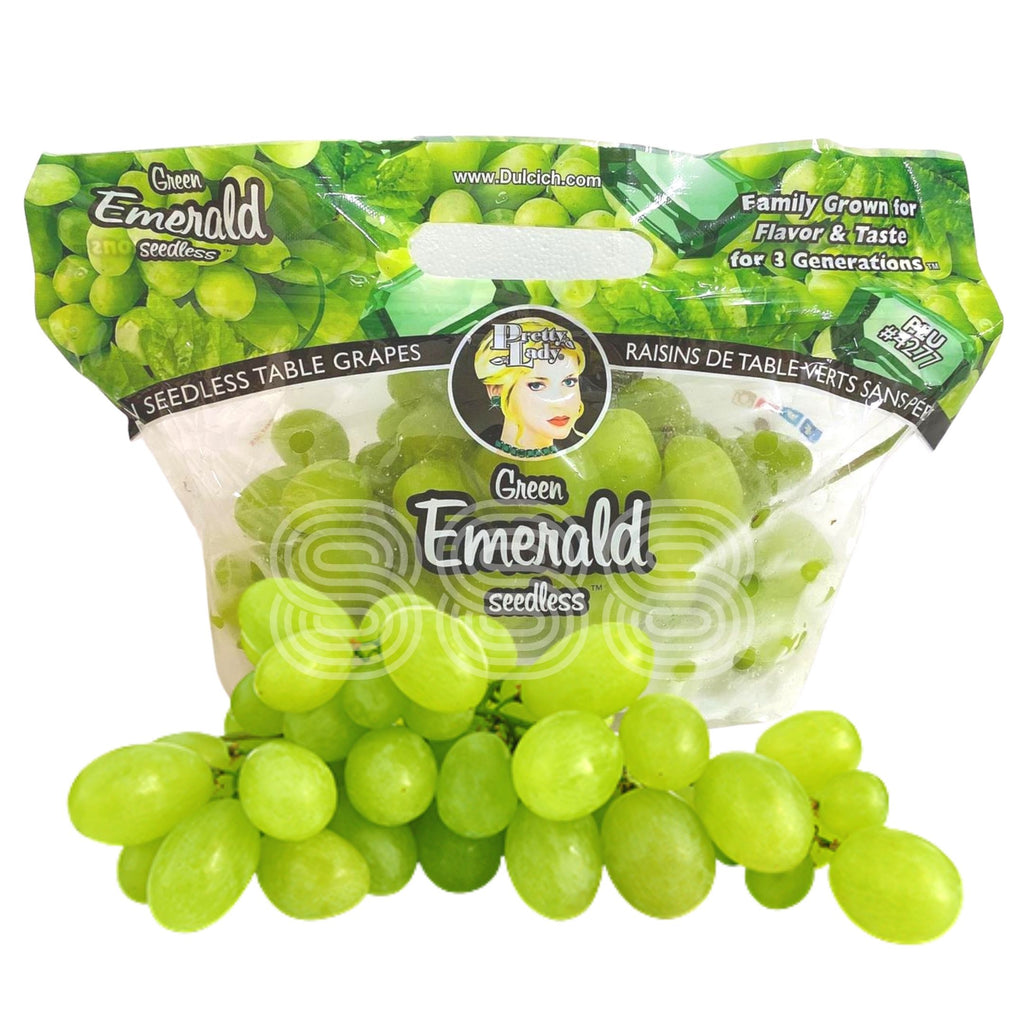 California Emerald Green Seedless Grapes (Large)