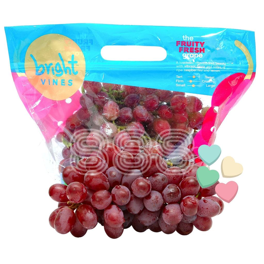 USA Candy Hearts Red Seedless Grapes (800g)