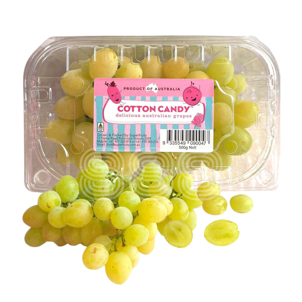 Australia Cotton Candy White Seedless Grapes (500g/ Punnet)