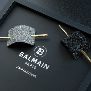 BALMAIN LUXURY HAIR BARRETTE CRYSTAL BLACK (Limited Edition)