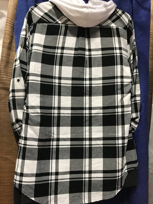 Black/White Flannel Shirt SM-XL