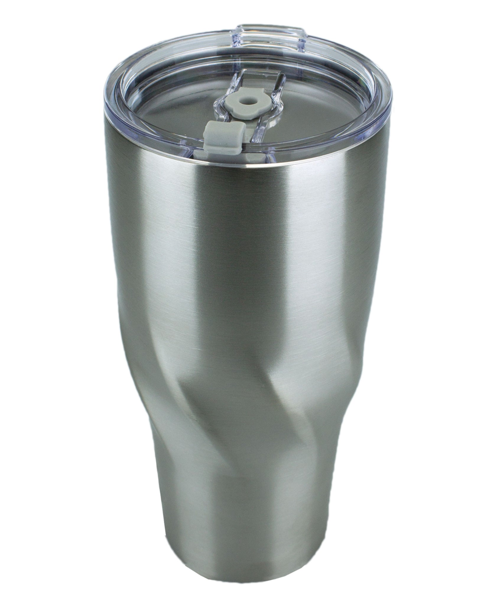 24oz. Twisted Stainless Steel Vacuum Tumbler with Lid/Straw