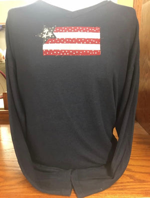 Black Long Sleeve Flag