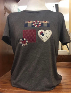 Brown Hearts & Stars T-Shirt SM-4X